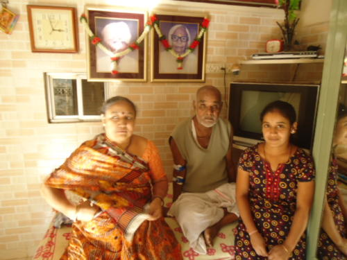 Himatlal with his Wife  Daughter Sonal