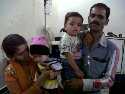 Mahim with her Mom Dad Brother