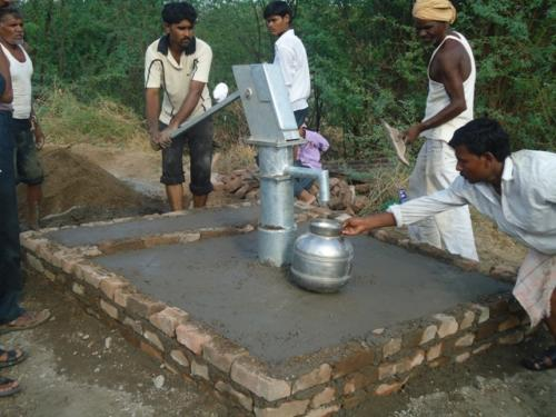 Construction for the Bore-Well Pump